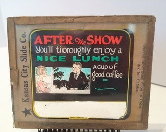 Glass Advertising Negative - After the Show - 1920s?
