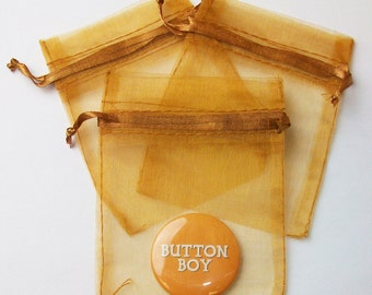 "72 Old Gold Sheer Organza Bags 3"" x 4"" - 6 Packs of 12"