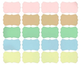 Blank Stickers / Blank self Adhesive Labels - various sizes - 60-pk