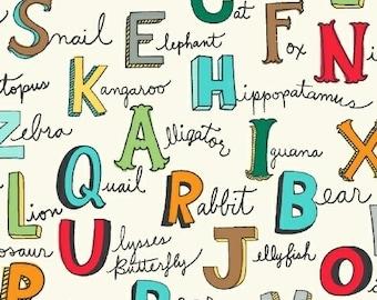 Kids' Alphabet Fabric - Windham Fabrics Alphabet Words animal fabric