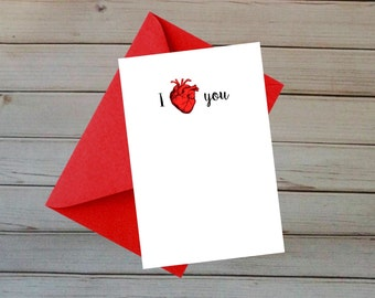 I Love You with My Anatomical Heart - Perfect for Valentines / Birthday / Anniversary