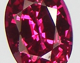 Excellent Cut Oval 7 x 5 mm. Pigeon Blood Red Ruby Lab corundum Loose Gemstone