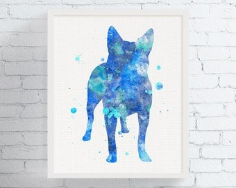Australian Cattle Dog Art, Australian Cattle Dog Print, Watercolor Australian Cattle Dog, Australian Cattle Dog Wall Decor, Watercolor Art