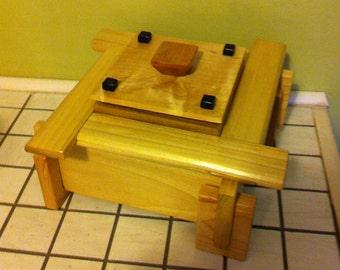 Handmade Wood Box With Lid / Hope Chest/ Jewelry Box/ Memory Box/ Keepsake box