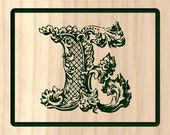 Wooden Letter E with Pall...