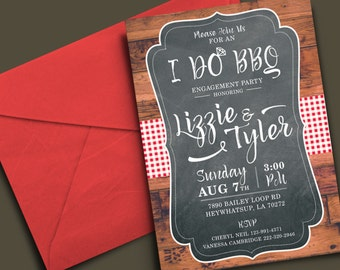 I Do BBQ Engagement Party / Couple's Shower Invitation • Printable - Digital