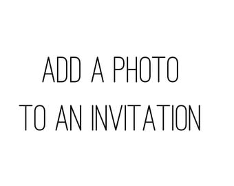 ADD a picture to back of an invitation