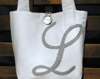 Initial Wedding Tote, Monogram Wedding Bag, Monogram Bridal Purse, Peronsalized Tote, Bridesmaid Tote, Initial Bag, Brides Tote Bag,