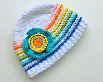 Crochet Pattern * SPRING HAT * PDF Instant download # 516 * Easter * Spring * Summer hat * baby toddler child teen adult * girls * boys