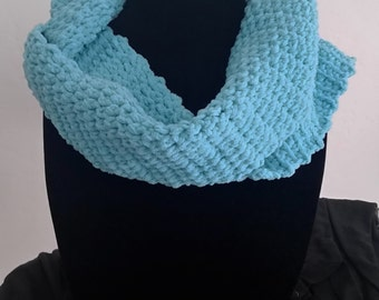 Baby Blue Chenille Infinity Scarf