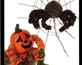 YO-YO HALLOWEEN  IJ811  Toy Pattern      By: Karen Kottke/Indigo Junction      Pumpkin and Spider