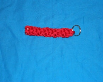 Red Paracord Key Chain