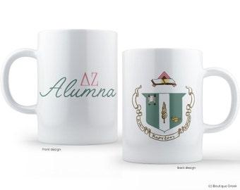 DZ Delta Zeta Crest Alumna Sorority Mug