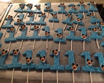 Mickey mouse blue lollipops