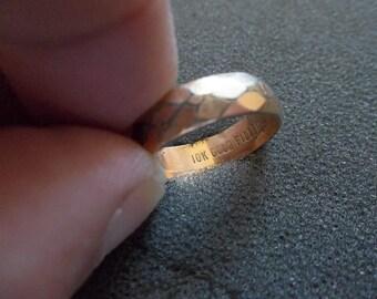 10K Gold filled wedding band size 7 3/4 - 8
