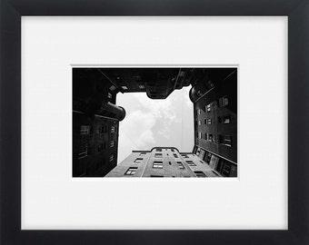 Riga, black and white street photography Latvia, wall art,photo print