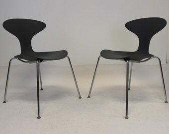 Vintage Mid Century Modern Pair of Bernhardt Orbit Chairs Eames Era