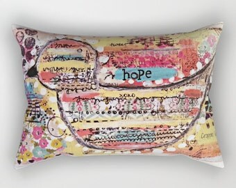 Rectangular Pillow with Art by Croppin' Spree