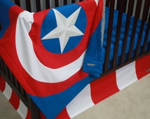 Marvel Avengers Baby Bedding--Captain America--Custom Crib Bedding-MTO