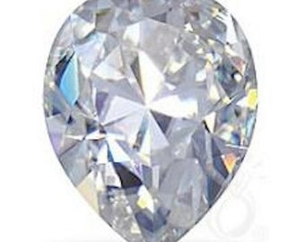 Loose Moissanite| Forever One Pear Shape| Diamond Alternative| Charles & Colvard| Ethical| Eco Friendly