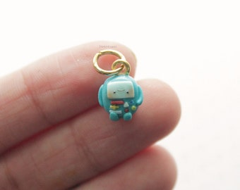 Kawaii Polymer Clay Adventure Time BMO Charm