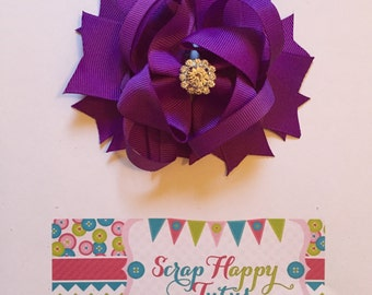 Purple Over the Top Hair Bow