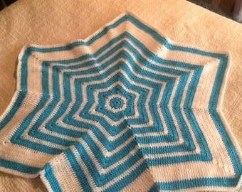 Baby crochet blanket star gift