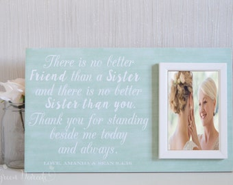 Wedding Gift For Sister Of The Bride : Sister Of Bride Gift Gift For Sister Wedding Gift For