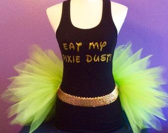 Tinkerbell Running Outfit, Fairy Tutu Set,  Princess Running Tutu, Running Tutu Set