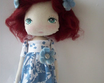 cloth doll, girl gift,nursery decor