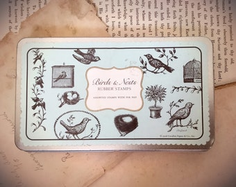 Birds and Nests Rubber Stamp Collection Quantity 11 Stamps