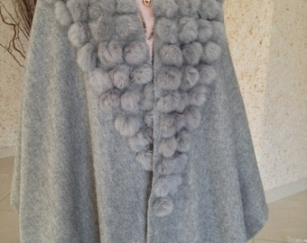 Shawl / cape cashmere