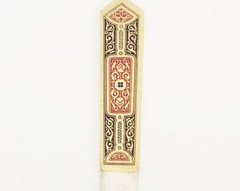 Vintage Brass Paper Knife / German Art Deco Letter Opener