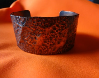 Rustic hand forged and hammered copper cuff bracelet with hand stamped loving message inside!