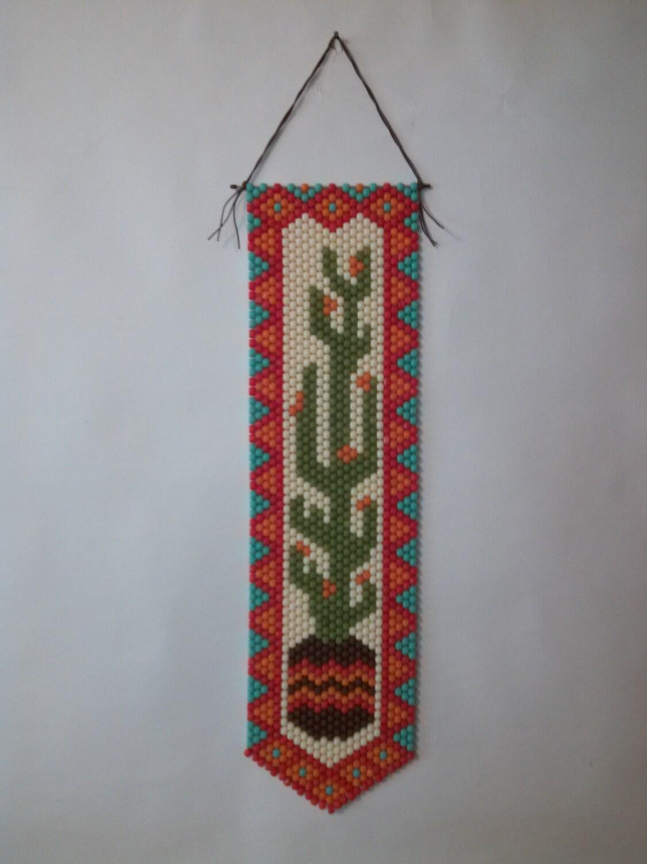 cactus beaded banner