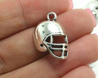 BULK 50 Football Helmet Charms, Football Charms, Sports Charms, Bulk Charms (5-1265)