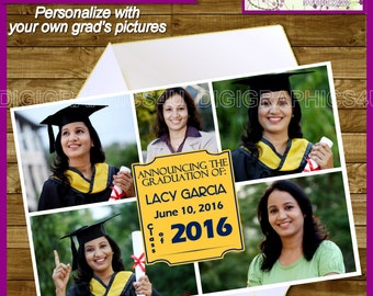 Class of 2016 Graduation Announcement Printable Invitation Digital File