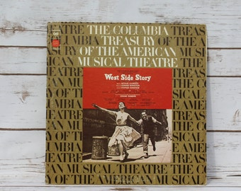 West Side Story Album LP Vintage Vinyl 33.3 Broadway Musical 1973 Columbia Records Arthur Laurents Leornard Bernstein Stephen Sondheim