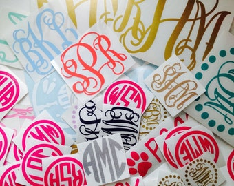 Monogram Sticker | Many sizes, colors, and styles!