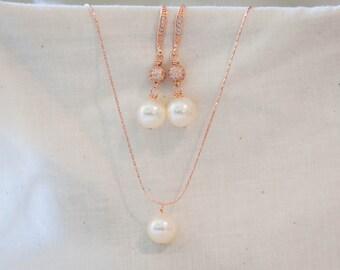 Elegant bridal jewelry pearl disco ball earrings Swarovski pearl jewelry pave bridesmaid jewelry bridesmaid jewelry set pearl pave dangle