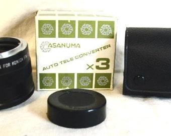Asanuma Auto Tele Converter X3 For Konica Automatic Camera New old Stock #mouse