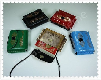 Mini Holy Quran with Leather Pouch, Car Hanging  Pouch (1 PCS)