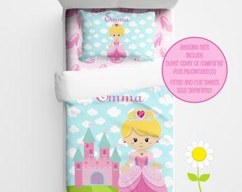 Personalized Princess Bedding for Kids - Princess Duvet or Comforter for Girls - Personalized Duvet Set for Kids - Custom Kids' Comforter