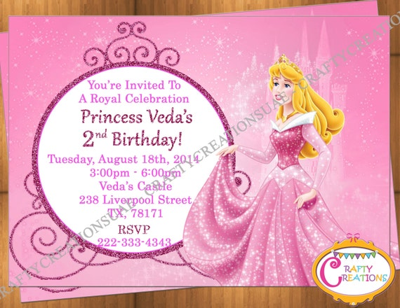 Princess Aurora Invitation Birthday