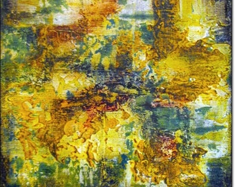 Abstract Giclee Wall Art Print Canvas Abstract Contemporary Art ACRYLIC PAINTING PRINT Yellow Orange Green Home Decor Abstract Landscape Art