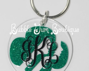 "Girl Scout Bag Tag- 2"" Round Acrylic"