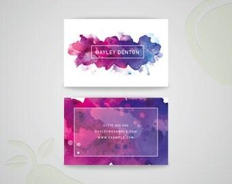 Watercolour Business Card Design