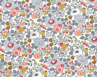 Liberty of London Tana Lawn Betsy in Gray -- 1/4 Yard