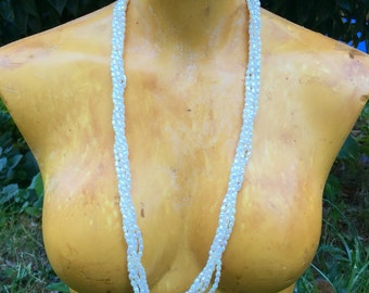 Vintage Five Strand Fresh Water Rice Pearl Necklace