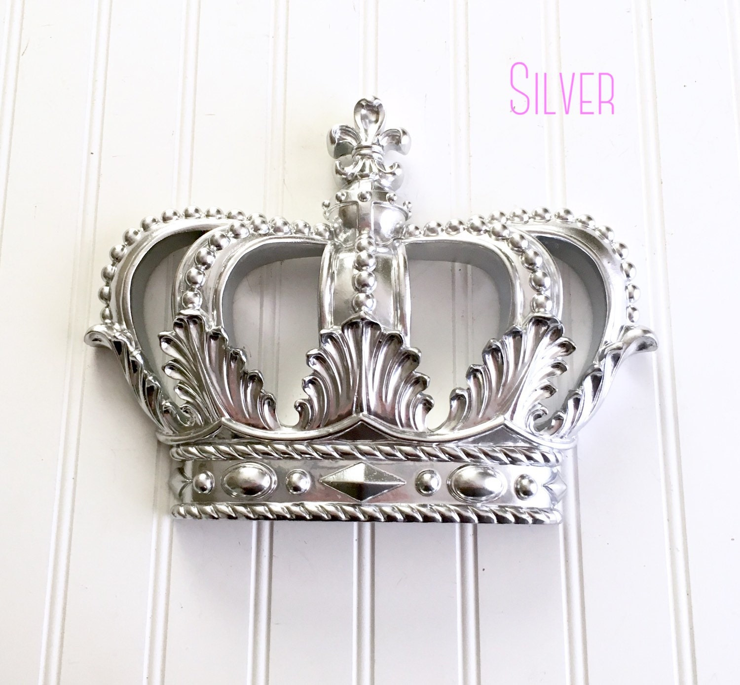 Silver Princess Crown Nursery Decor Princess Crown Baby